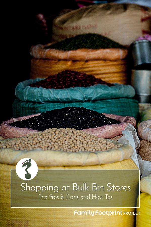 How to shop at Bulk Bin Stores Pinterest Image