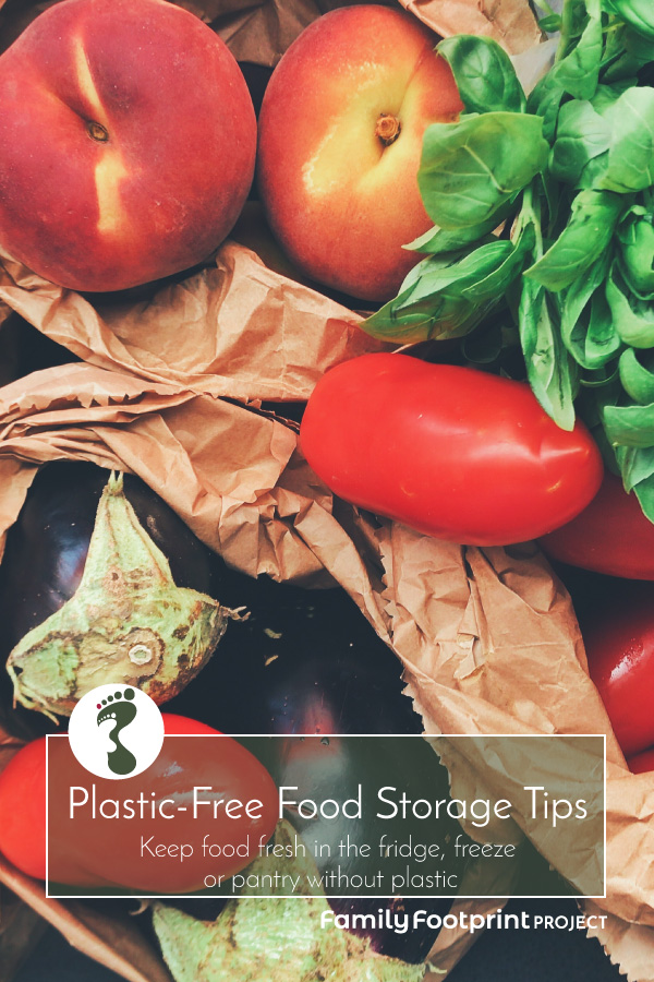 Plastic-free Food Storage Tips Pinterest Ready Image