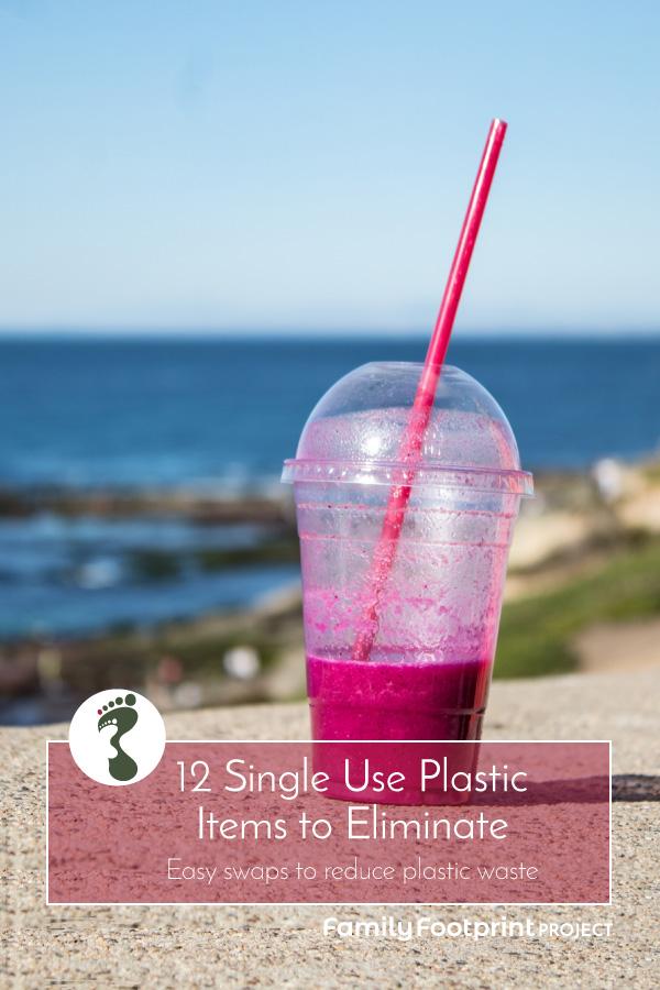 Single Use Plastic Items to Eliminate Pinterest Image