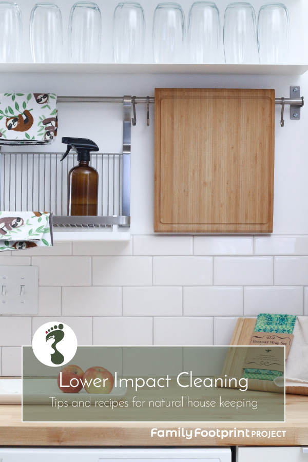 Lower Impact Cleaning Pinterest Image