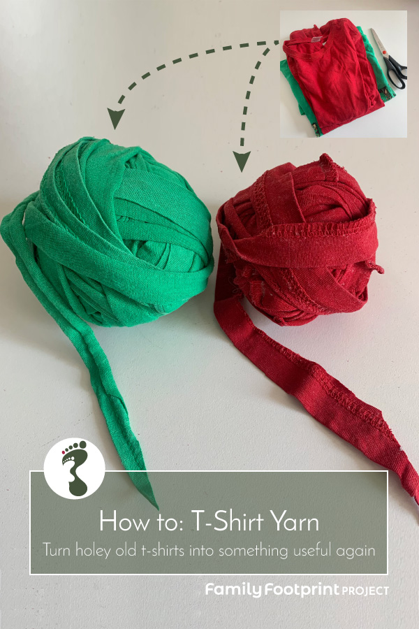 How to make T-shirt yarn pinterest image