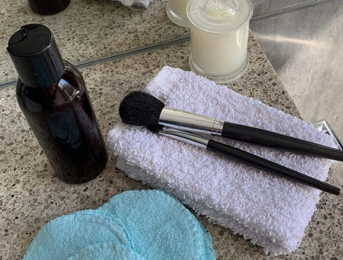 Makeup Remover Lotion and Reusable Wipes