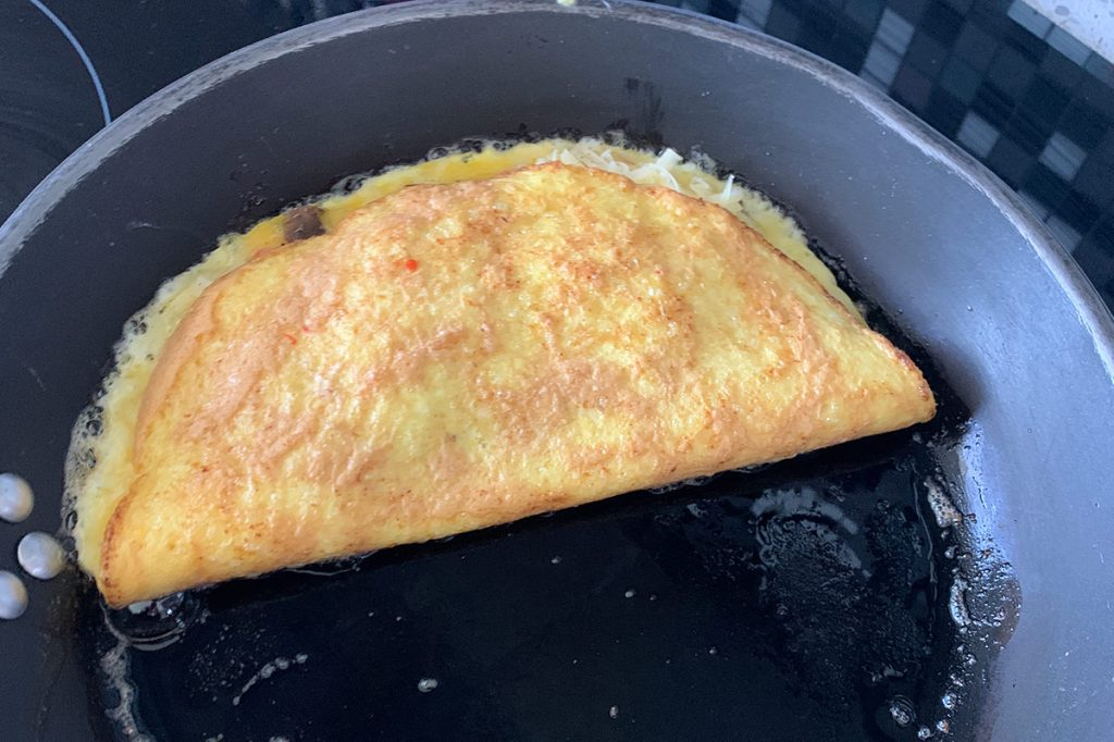 use up eggs by making omelettes