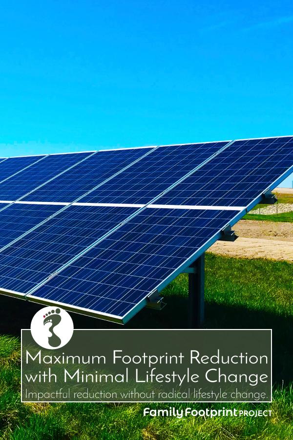 Maximum Footprint Reduction with Minimal Lifestyle Change Pinterest Image