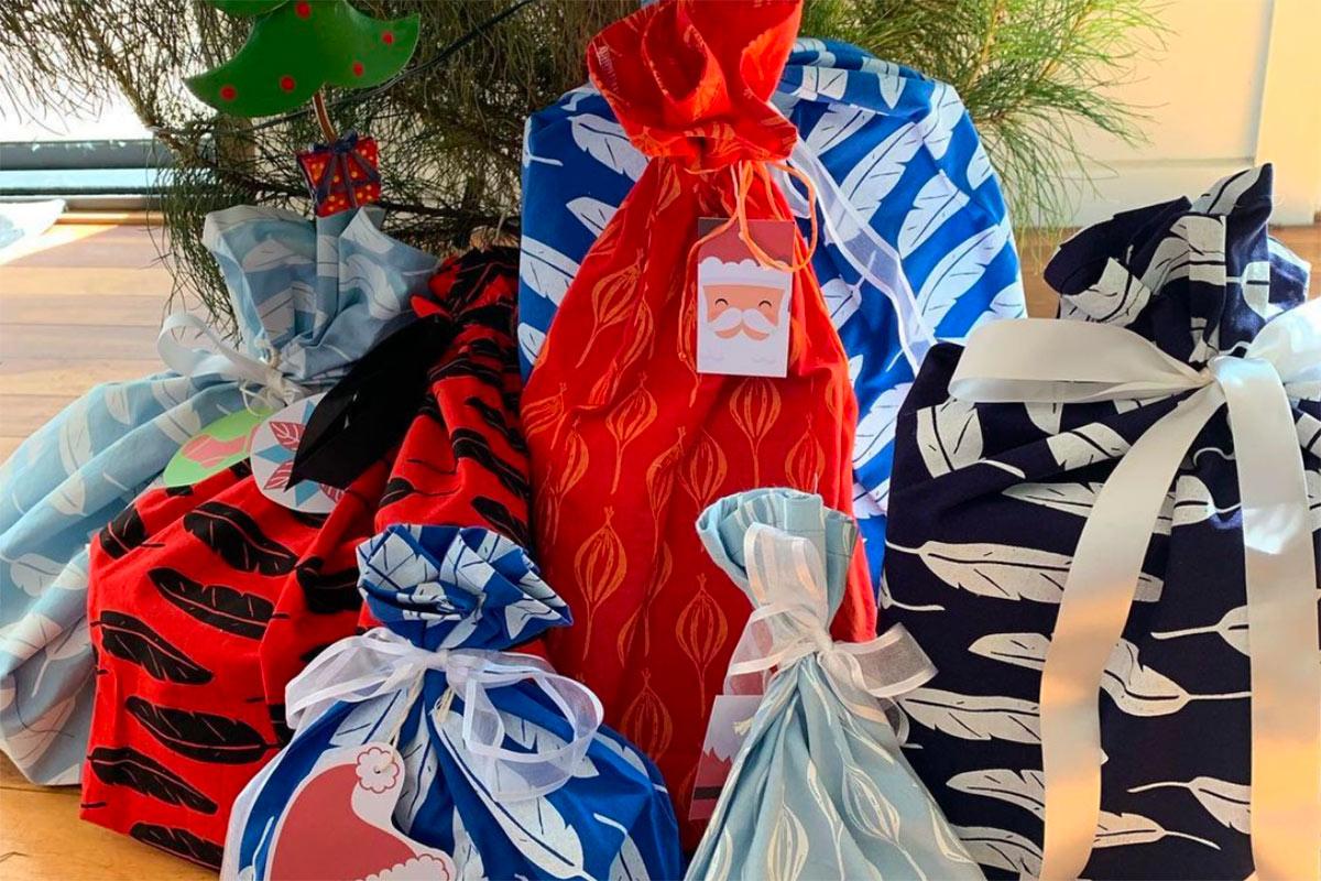 Reusable Fabric Gift Bag Tutorial