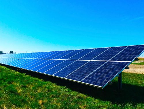 Solar panels to reduce carbon emissions